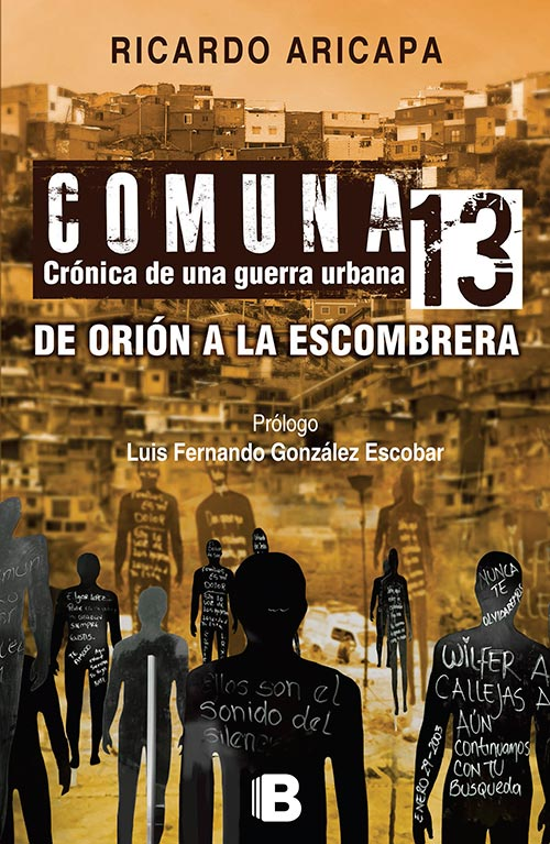 Portada de Comuna 13, libro de Ricardo Aricapa