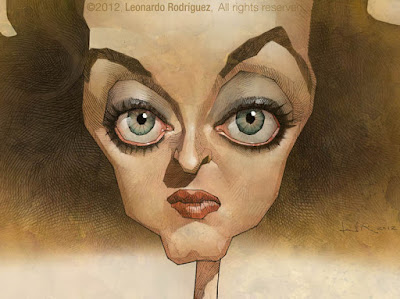 Caricature of Bette Davis