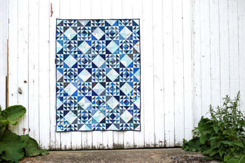 Woven Quilt from Patchwork Essentials: The Half-Square Triangle | InColorOrder.com
