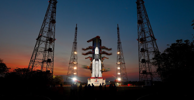 GSLV Mk III on the launch pad. Credit: ISRO