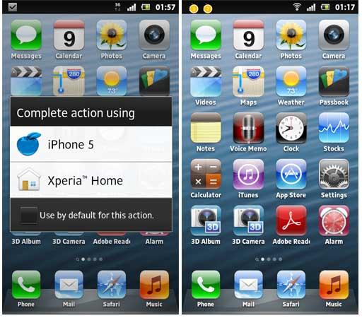 Tampilan iPhone 5