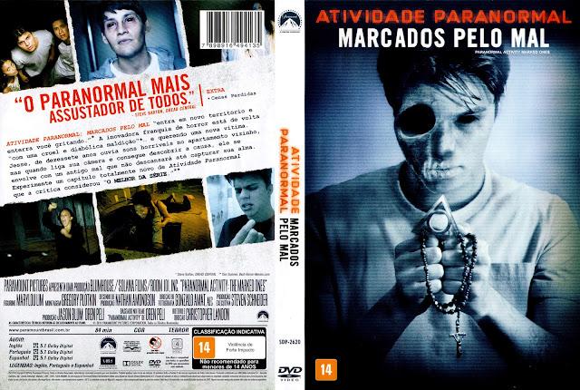 Capa DVD Atividade Paranormal Marcados pelo Mal