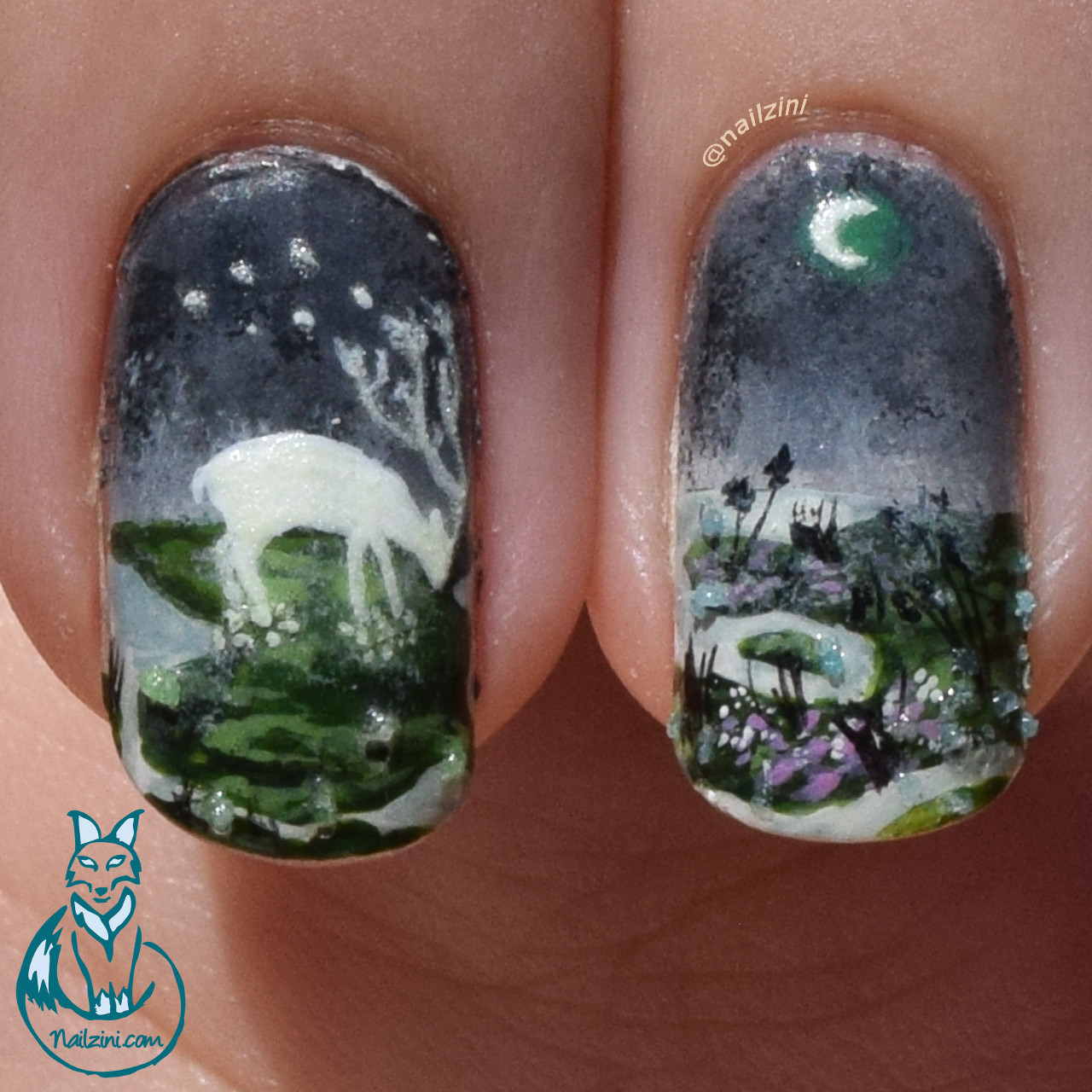 Moon Essence Glow In The Dark Nail Art Born Pretty Store Review