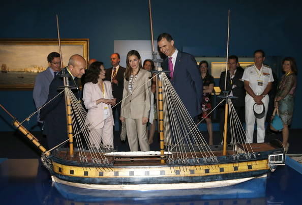 Prince Felipe and Princess Letizia visited Archaelogical Museum in Madrid