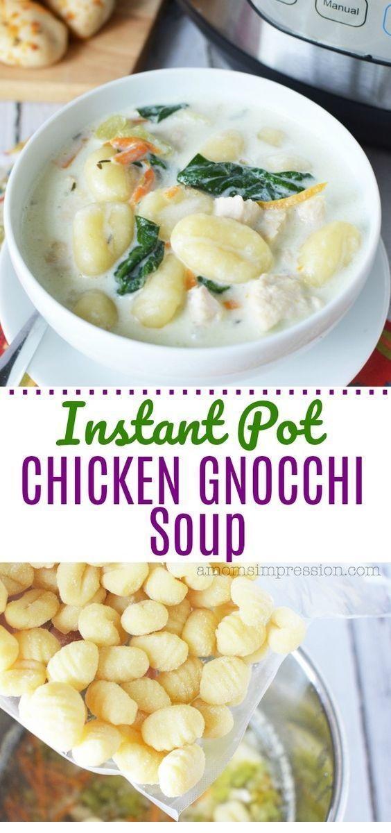 Instant Pot Olive Garden Chicken Gnocchi Soup