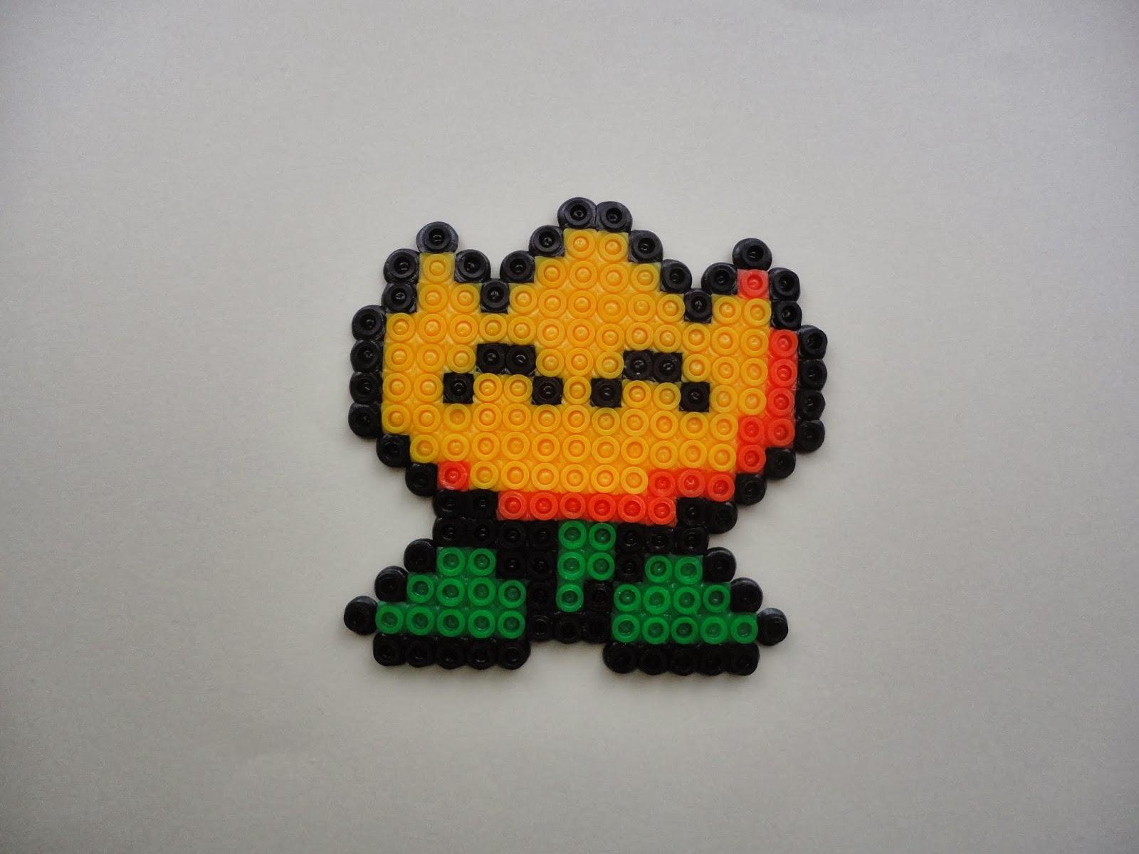 Pixel Art E Flor De Mario Bros En Pyssla
