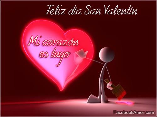 feliz día san valentin amor