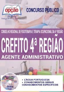 Apostila Concurso CREFITO-MG 2017- Auxiliar Administrativo -