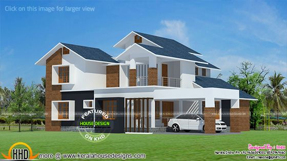 House brick cladding on exterior
