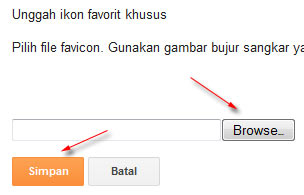 upload favicon