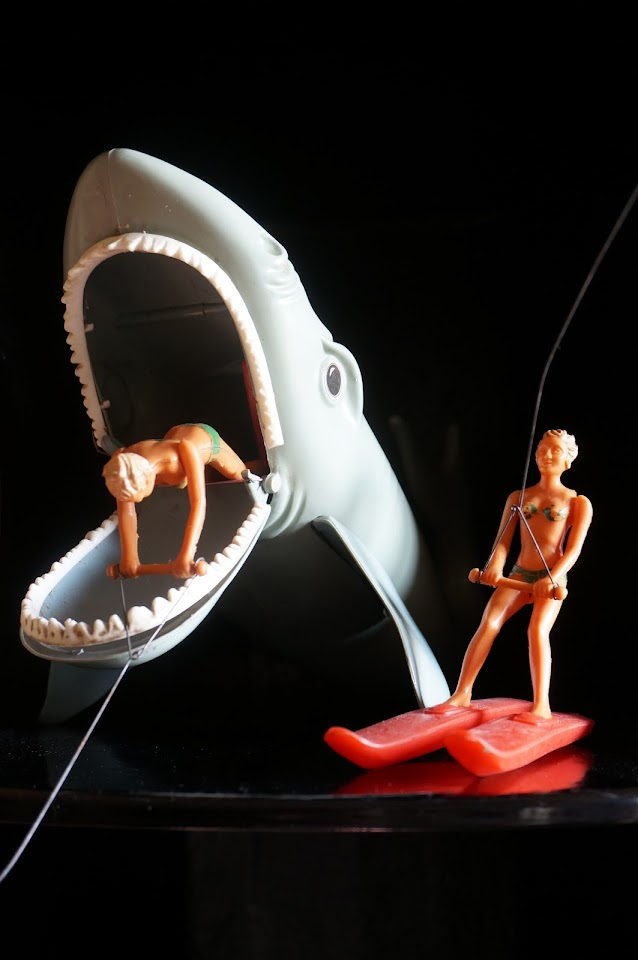 Shark attack vintage water skiing doll