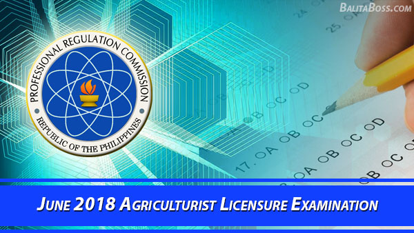 Agriculturist June 2018 Board Exam