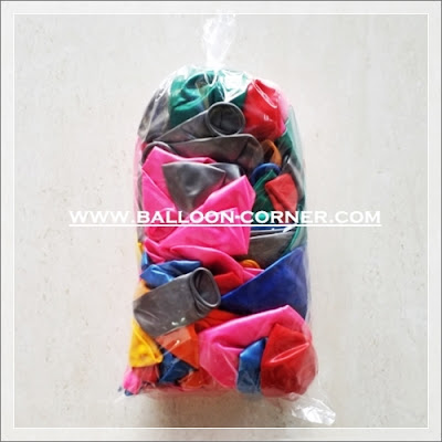 Balon Latex Metalik 12 Inchi Campur Warna / Mix Colour