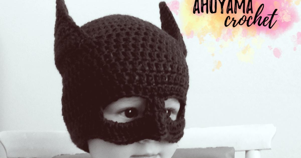 GORRO DE BATMAN A CROCHET - Ahuyama Crochet