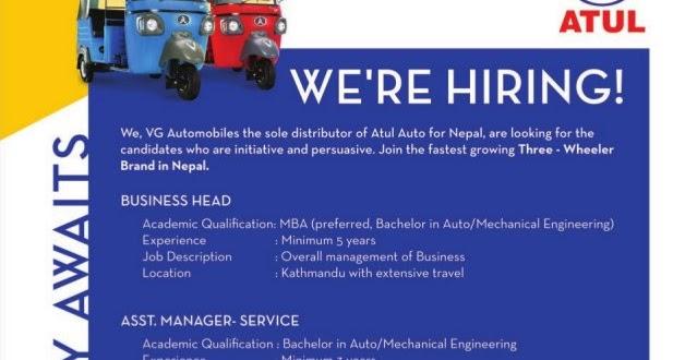 Auto Mechanical Engineer Jobs Vacancy Vg Automobiles