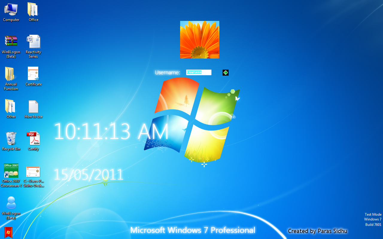 Windows 8 Logon screen