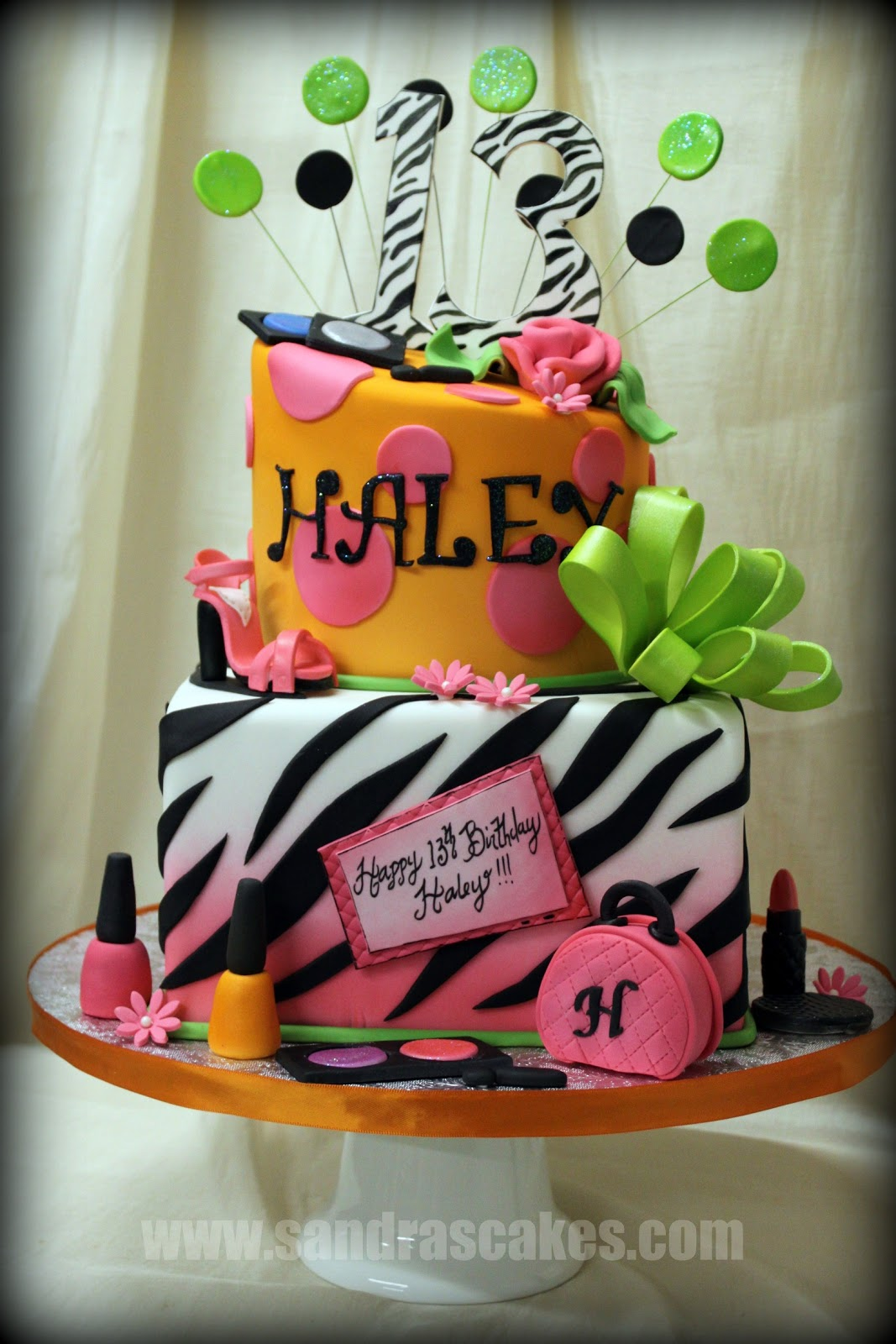 On Birthday Cakes Fun And Colorful 13th Birthday Cake