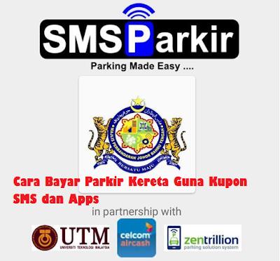 Cara Bayar Parking Kereta Guna sms