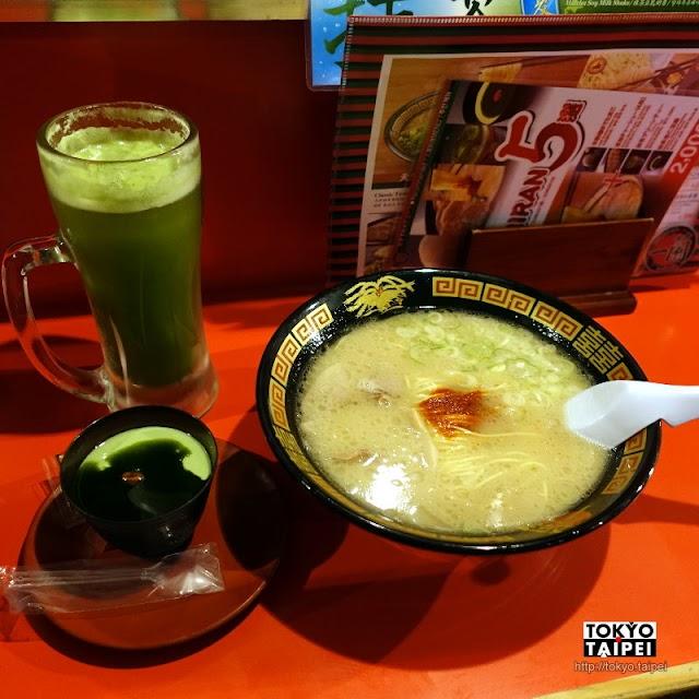 【一蘭本社總本店】在屋台吃一蘭拉麵 配抹茶啤酒和杏仁豆腐