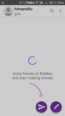 invite friends on blabber app