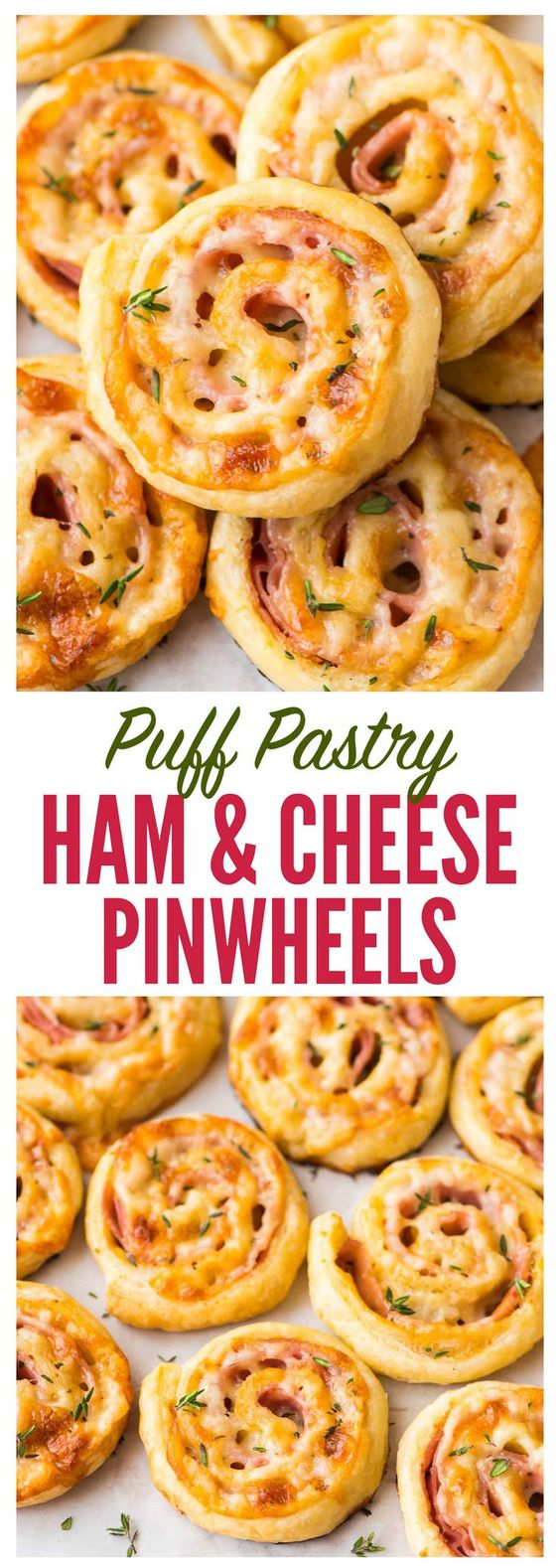 Ham and Cheese Pinwheels #appetizer #ham #cheese #pinwheels