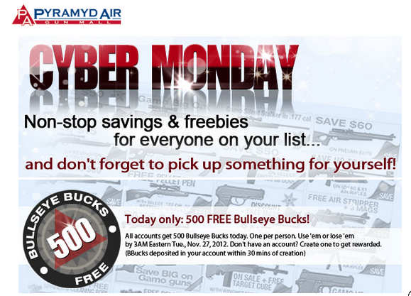 airsoft cyber monday deals, pyramyd air cyber monday, airsoft cyber monday, cyber monday, cyber monday sales, pyramyd airsoft blog, tom harris, tominator,