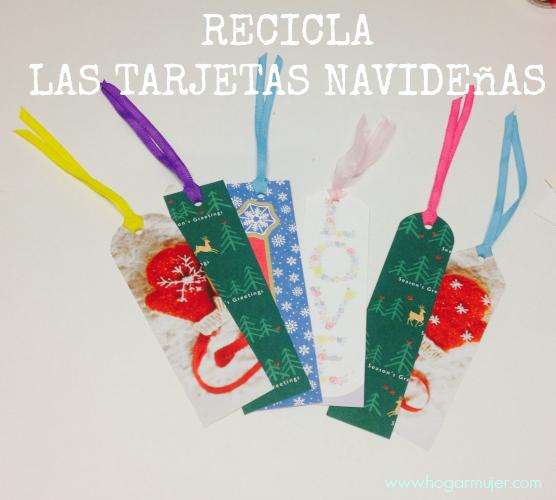 reciclaje tarjetas navideas