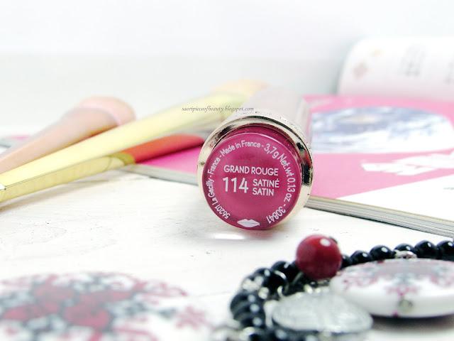 Яркая малина в оттенке 114 из линейки Grand Rouge от Yves Rocher/ блог A Piece of Beauty