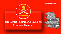 HQ Central Command Lucknow Messenger Previous Papers
