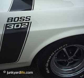 Reflective stripes adorned all 6,318 1970 Boss Mustangs produced by Ford.