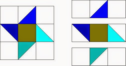 A Scrappy Triangle Quilt Pattern Block