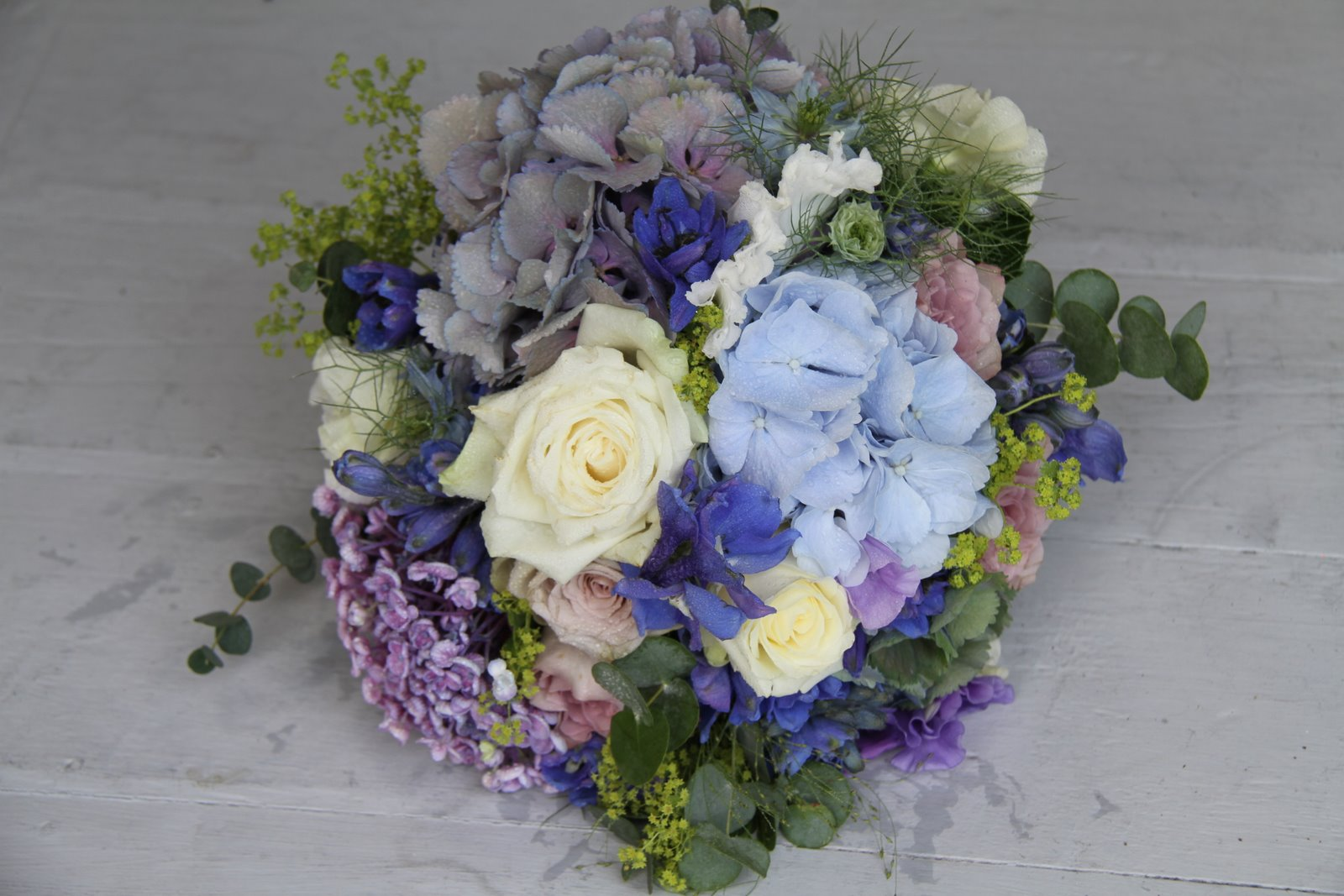 The Flower Magician: Blue & Lavender Wedding Bouquet