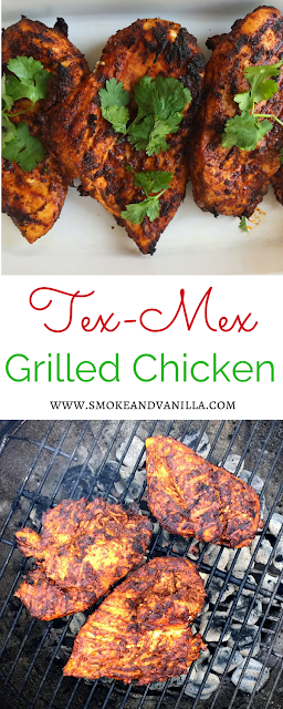 Easy Tex-Mex Grilled Chicken by www.smokeandvanilla.com - A quick and easy marinade recipe for delicious, Tex-Mex grilled chicken breasts perfect for tacos, nachos, salads, burritos... you name it! http://bit.ly/2qGn3SS