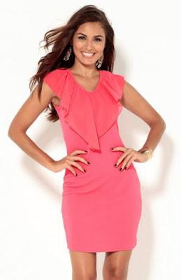 vestido rosa de Venca