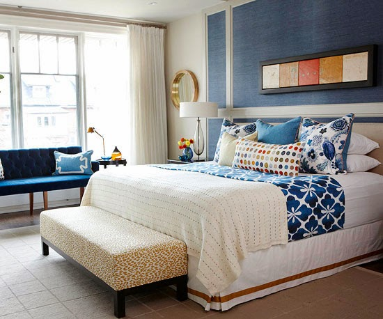 Modern Furniture: Best Ways To Use Blue In Bedroom : Color