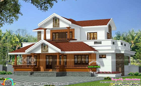 6 bedroom 2974 square feet traditional home design