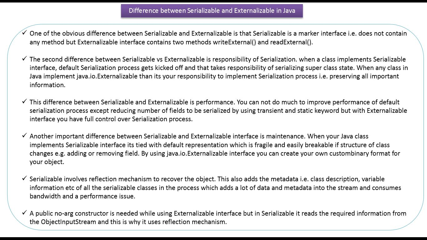 Java ee java tutorial java io java serializable vs java tutorial java io java serializable vs externalizable serialization vs externalization v3 baditri Image collections