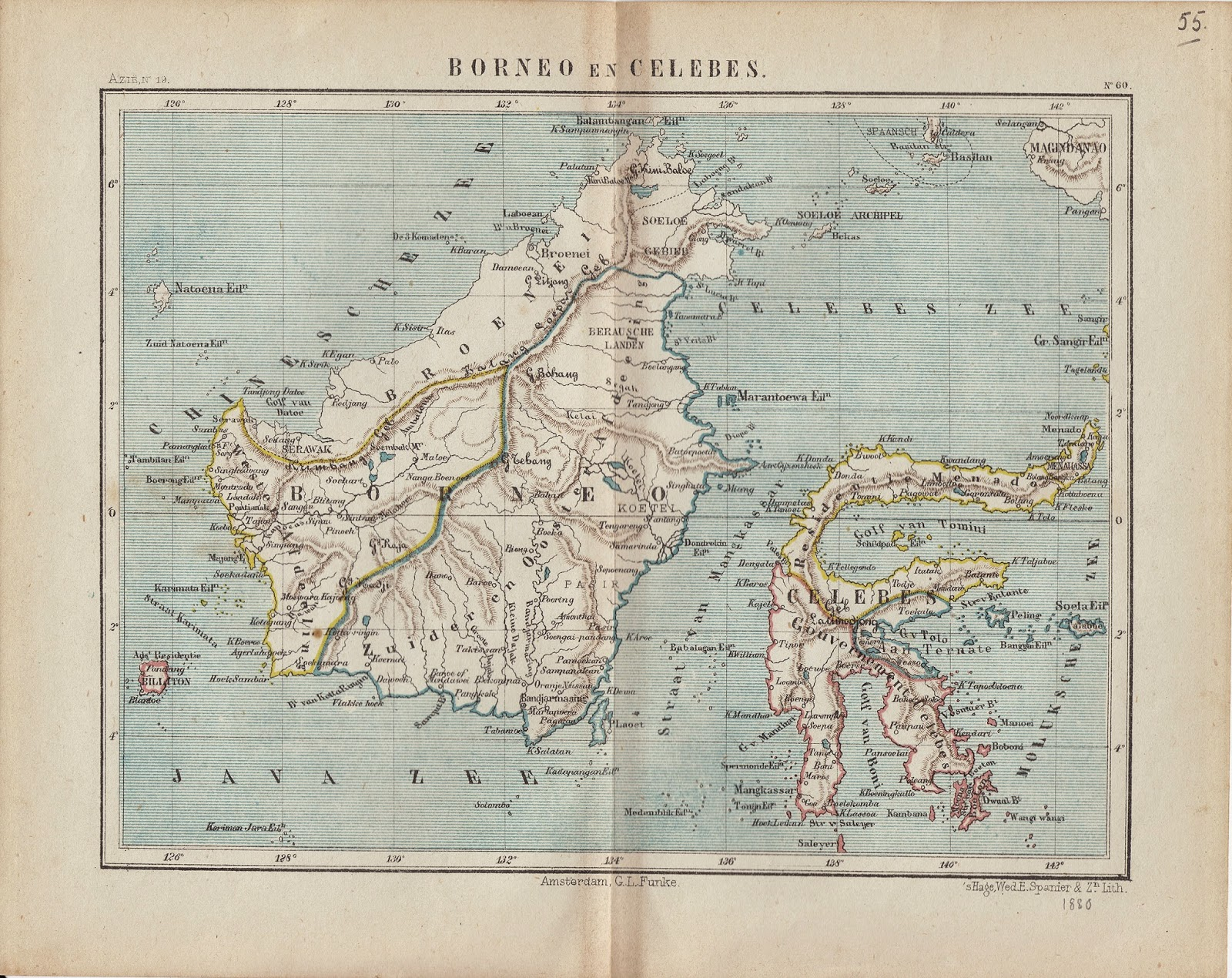 My North Borneo Stamps Some Old Maps Of Borneo - Amsterdam old map