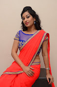 tejaswini sizzling photos in saree-thumbnail-6