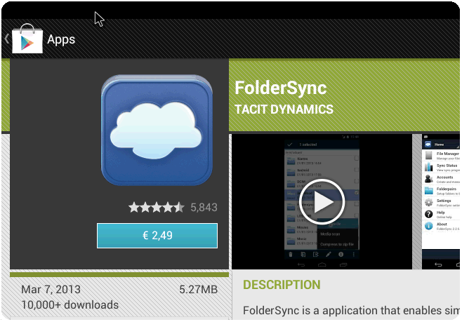Paperless meetings with Android FolderSync and File Jockey