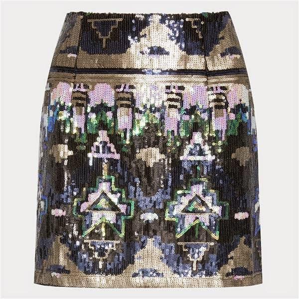 Mini falda con lentejuelas de Primark