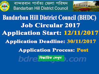 Bandarban Hill District Council (BHDC) Upazila Family Planning Assistant, Family welfare assistant, Aaa (Female)