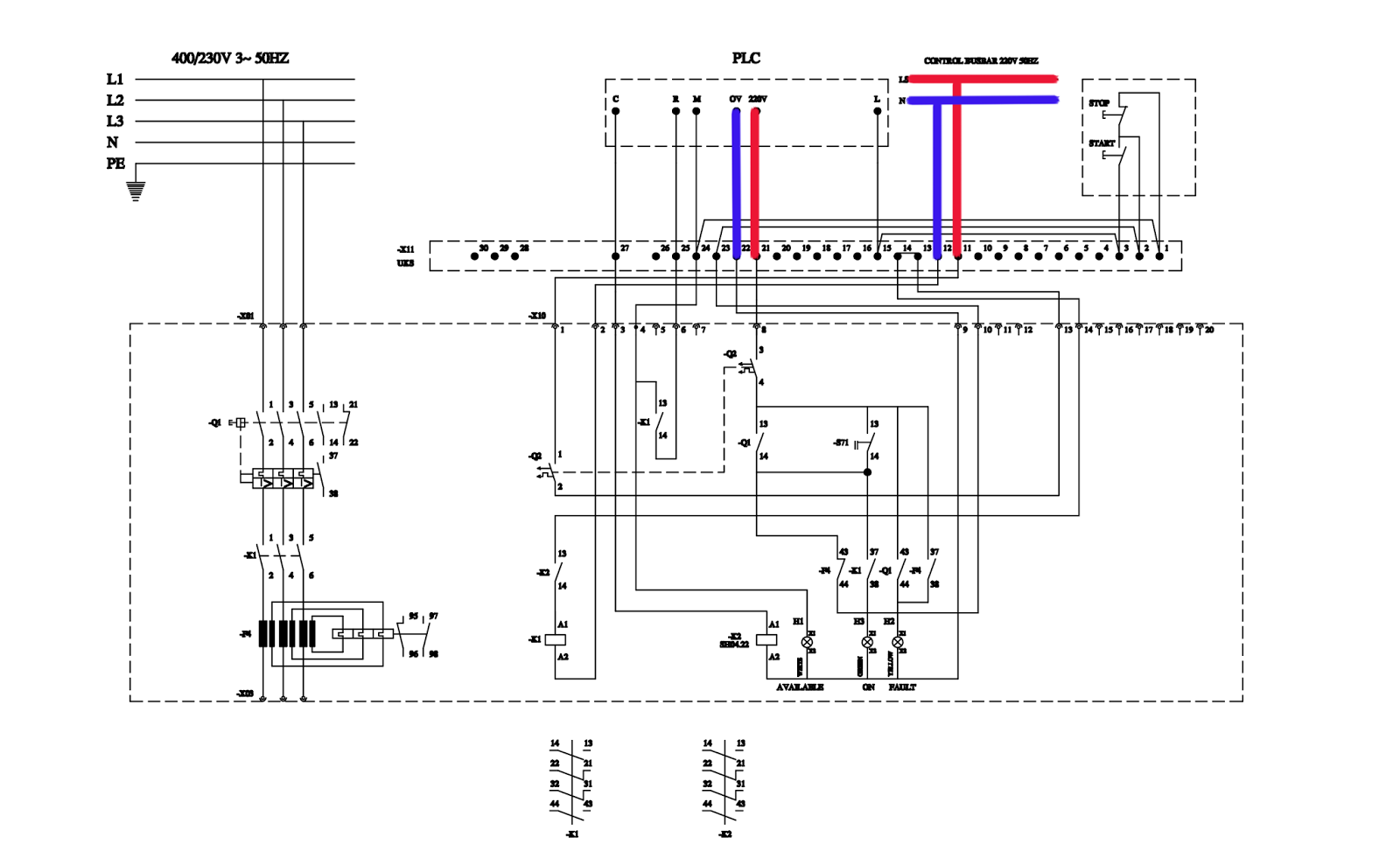 wiring diagram plc panel signal stat 900 get free image about