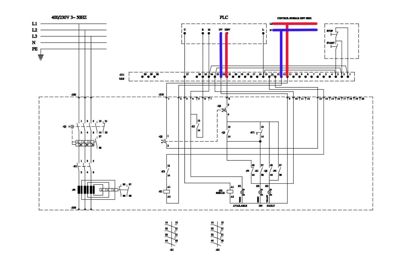 contoh wiring diagram plc