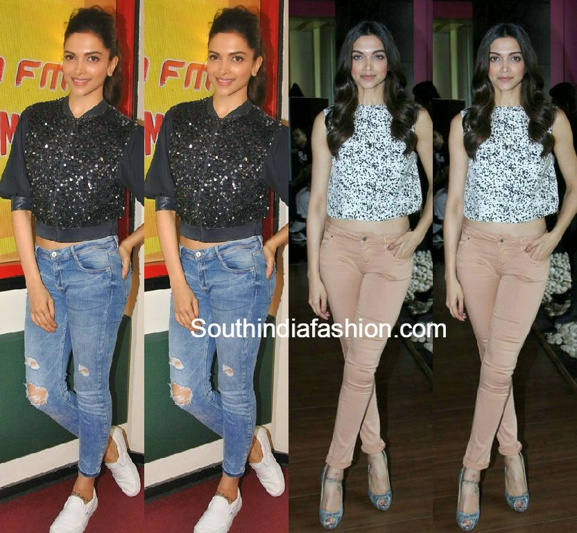 Deepika Padukone at Piku Promotions - South India Fashion
