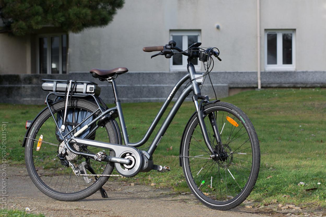 bb2a088963849 Pour la 1ere fois, Btwin nous propose un vélo avec un moteur pédalier  Shimano (auparavant, tout les VAE Btwin étaient équipés de moteur dans la  roue).