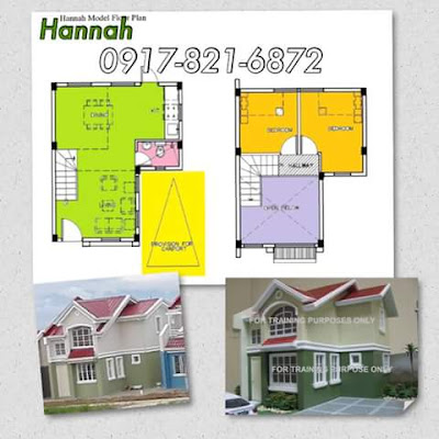 HANNAH SINGLE ATTACHED HOUSE FLOOR PLAN TERRAVERDE RESIDENCES AFFORDABLE HOUSE AND LOT SALE RENT TO OWN CAVITE