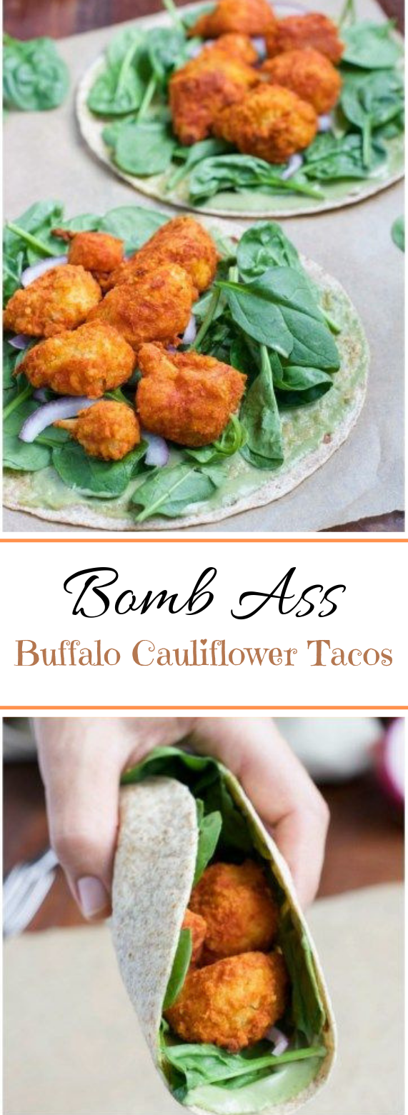 Bomb Ass Buffalo Cauliflower Tacos #caulifower #vegetarian