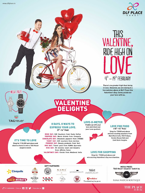 This Valentine, ride high on Love at DLF Place, Saket