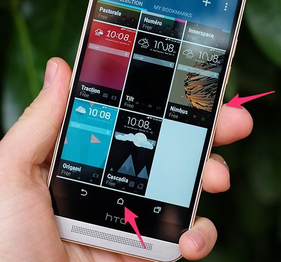 Cách chụp màn hình điện thoại HTC